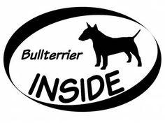 Hund Inside Auto AufkleberInside Aufkleber: Bullterrier 1