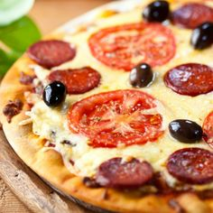 Rustic Stonebaked Pizza With Chorizo Sausage