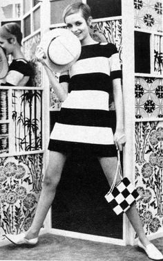 Twiggy!     I had a dress just like this in lime green and orange.omg ! I thought it was great.lol!!