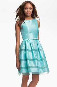 Taylor Dresses Tonal Stripe Fit & Flare Dress | Nordstrom #Nordstromweddings