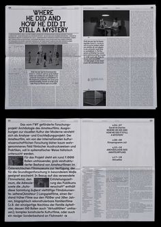 Newspaper design inside pages samples for Deadwood film/cinema collective in Vienna. © Studio Sarp Sozdinler