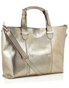 Mari Tote in metallic grey, £38