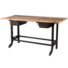 French Industrial Desk  mid-20th century