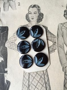 French Buttons Collection On Card by RubanRuban on Etsy