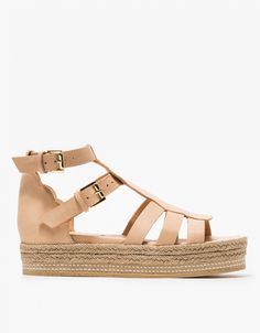 Leather Sandal in Sand