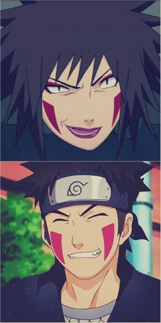 Kiba and his mother. I like Kiba so much ^^