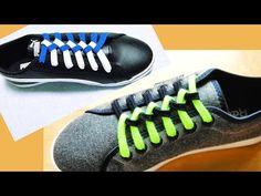 〔靴紐の結び方〕イギリスの国旗にちょっと似ている形の靴ひもの通し方 平ひも編 how to tie shoelaces 〔生活に役立つ!〕 - YouTube Ways To Lace Shoes, How To Tie Shoes, Shoe Lacing Techniques, Creative Shoes, Tie Shoelaces, Shoe Pattern, Cute Pillows, Diana, Cute Shoes