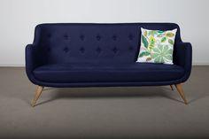 scandinavian blue sofa
