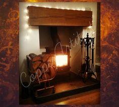 Rose Gold Copper Pipe Log Burner Wood Holder Luxury Home Decor