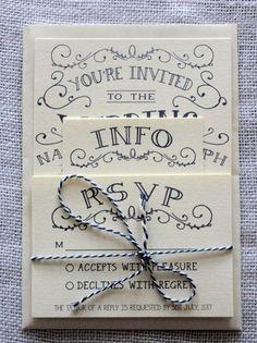 Personalised invite cards