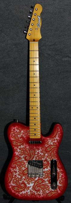 Crook Custom Guitars - Red and White Sparkle Paisley