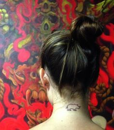 One line tarttoo. And for something a little more permanent... a Rhino tattoo!