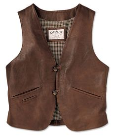 Just found this Brown Leather Vests For Men - Canyon Country Vest -- Orvis on Orvis.com!