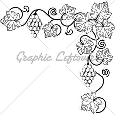 pictures of things to make with grape vines | Grape Vine Corner Background Design Element I...