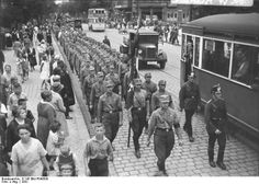 German SA marching in Spandau Borough, Berlin 1932