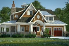Houseplans.com Bungalow / Craftsman Other Elevation Plan #444-39 . Like the floor plan a lot