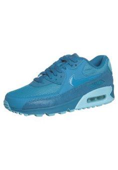 Trendy Nike Sportswear AIR MAX 90 PREMIUM Sneakers laag light blue laqueur/clearwater Sneakers van het merk Nike Sportswear voor Dames . Uitgevoerd in Blauw gemaakt van leer en textiel.