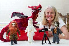 Grandmother's stunning knitted models of Lord of the Rings and The Hobbit characters - Wales Online