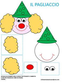libricino – Page 2 – Maestramaria Clown Crafts, Circus Crafts, Carnival Crafts, Cd Crafts, Preschool Crafts, Fall Crafts, Diy And Crafts, Paper Crafts, Diy For Kids