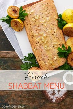 This Shabbat is the first day of Pesach.  So for this menu we will share a Shabbat lunch menu idea keeping in mind the big seder ahead.