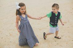 Nautical Stripe Maxi Dress by MiniScallop on Etsy, $54.00