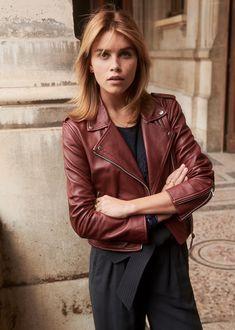Amour, Mode   Beauté. Perfecto en cuir veste femme rouge bordeaux ... 4fa9907d56f9