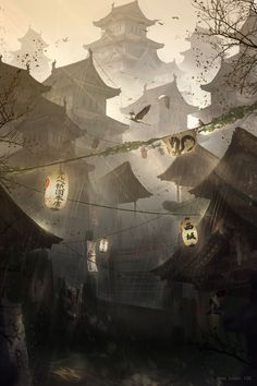 Concept artist, illustrator and designer José Julián Londoño Calle creates astonishing science fiction themed worlds and images for movie and video games. Fantasy Landscape, Landscape Art, Fantasy Art, Japan Illustration, Art Japonais, Fantasy Places, Matte Painting, Environment Concept, Fantasy Inspiration