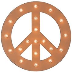 Dot & Bo Peace Sign Marquee Sign ($119) ❤ liked on Polyvore featuring home, borders and picture frame