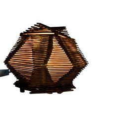#Velador hecho con palitos de helado laqueado color roble claro y cedro con tapa desmontable.25cm de ancho x 25cm de largo. precio $ 100.-  #Emprendimiento #Artesanías  #LaTiendaDelCEES #SantaFe