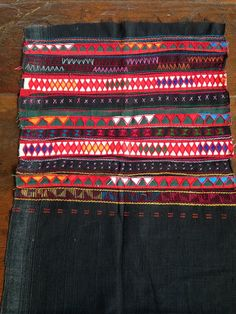 Vintage Akha hill Tribe textile original handmade ethnic fabric Tribal craft supplies
