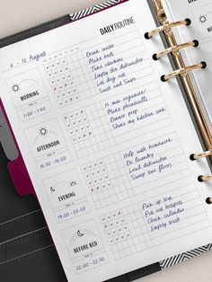 Ipad Notes Discover Daily Routine Planner Printable Flylady Morning Routine Checklist Before Bed Routine Home Management Planner Insert Household printables Bullet Journal Planner, Bullet Journal Writing, Bullet Journal Layout, Bullet Journal Ideas Pages, Bullet Journal Inspiration, Daily Bullet Journal, Flylady, Morning Routine Printable, Morning Routine Checklist