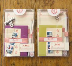 order your's here:    http://phdesignshop.bigcartel.com/product/camp-stationery-set