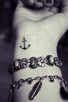 Anchor wrist tattoo ⚓