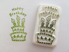 ハンドメイドマーケット minne(ミンネ)| happy birthday ケーキ*消しゴムはんこ*