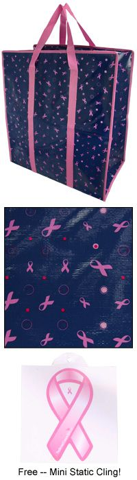 Ribbons & Dots Storage Bags - Set of 3 at The Breast Cancer Site