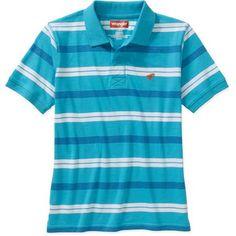 #walmart Wrangler Boys Short Sleeve Multi Stripe Polo Shirt - $6 (save 14%) #wrangler #clothing #boys
