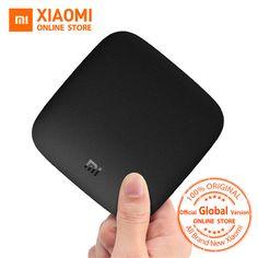 Глобальный Verison Сяо Mi Ми Box 3 Android ТВ Box Amlogic S905X Quad Core Cortex-A53 2 ГБ 2.4/5 г WI-FI 802.11a/B/G/N/AC Android ТВ 6.0