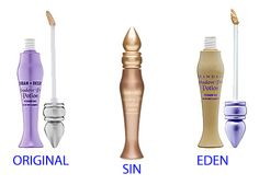 My third favorite line is Urban Decay. Here is the Urban Decay Primer Potion, aka UDPP. Sin is my favorite of the three that you see. It is the prefect primer that prevents your shadow from creasing. It also adds a slight shimmer base and causes your eye shadow color to pop. $18.00