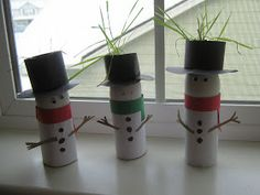 DIY CRAFT ** Toilet paper roll **  Christmas Take one toilet roll and egg shell some some creative extras and whola a Egg head snow man