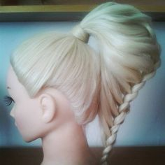 The Hollow Pony Braid / Hair Tutorial -- DOUGHNUT BUN RING MAGIC