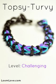 How to Make a Topsy Turvy Bracelet #kids #crafts #stretchband #loopband #loombracelet