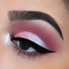 """The lid reminds me of unicorns Brows: @anastasiabeverlyhills • Brow wiz in """"Ebony"""" and """"Dark Brown"""" Eyes: @anastasiabeverlyhills • modern renaissance palette (Venetian red in the crease) and ABH single shadows (""""Blush"""", """"Macaroon"""", and """"Icy"""" + """"Touch of Lilac on the inner corner"""") Liner: @anastasiabeverlyhills • waterproof cream colour in """"jet"""" Lashes: @luxylash in """"Homegirl"""" use code """"CHELSEA"""" for 20% off Used @anastasiabeverlyhills brushes A7, 18, A26, A5, A27, A6, A25, and A28 #ma..."""