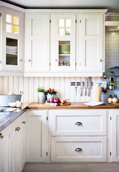 All in the detail... from the backsplash, to the countertops and cabinet detail Scandinavian charm