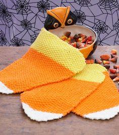 Candy  Corn Dishcloth knitting pattern