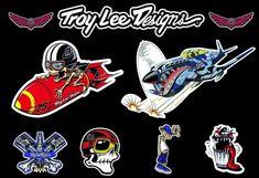 MTB Moto Helmet Bike Die Cut Vinyl Custom TLD Troy Lee Designs Decal Set