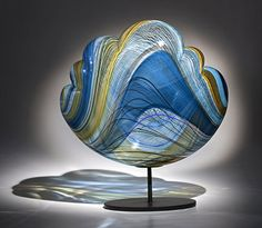 Nancy Callan - Blue Rain Gallery / Santa Fe New Mexico Mosaic Glass, Fused Glass, Stained Glass, Art Of Glass, My Glass, Cristal Art, Vases, Glass Paperweights, Modern Glass