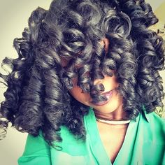 """""""Final results! Spiral set using @camillerosenaturals curl maker gel. (Only product used). My hair is so fluffy and soft! I used large perm rods ☺️ video will air today on YouTube! #mahoganycurls #spiralset #permrodset #naturalhair #teamnatural #naturalhairsistas #rollerset"""" Photo taken by @mahoganycurls on Instagram, pinned via the InstaPin iOS App! http://www.instapinapp.com (12/15/2013)"""