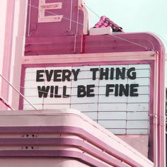 Everything will be fine!