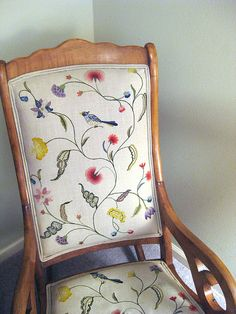 embroidered chair!
