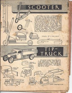 Plans for a make it yourself children's toys. from a 1928 Handicrafts magazine. woodworking projects.